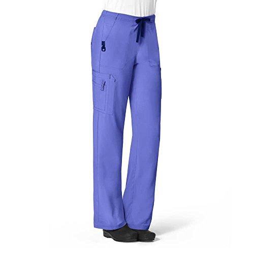 Carhartt Scrubs C52110 Women's Force Cross-Flex Utility Boot Cut Scrub - Large Tall - Blue Nights Bootcut Scrub Pants