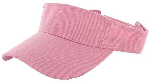 DealStock Plain Men Women Sport Sun Visor One Size Adjustable Cap (29+ Colors) (Pink)