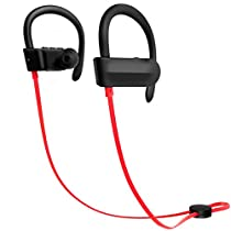 Mrkyy Bluetooth Headphones, Wireless Stereo Bluetooth Earphones Sports Earbuds with Ear Hook and Built-in Mic, IPX5 Sweat-Proof, CVC Noise Cancellation, Gym Running WorkoutHeadset