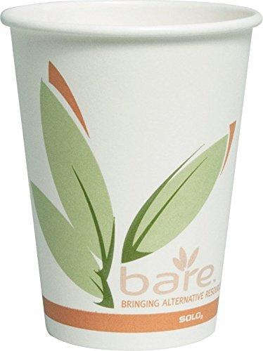 Solo 412RCN-J8484 12 oz Bare PCF Paper Hot Cup (Case of 1000)