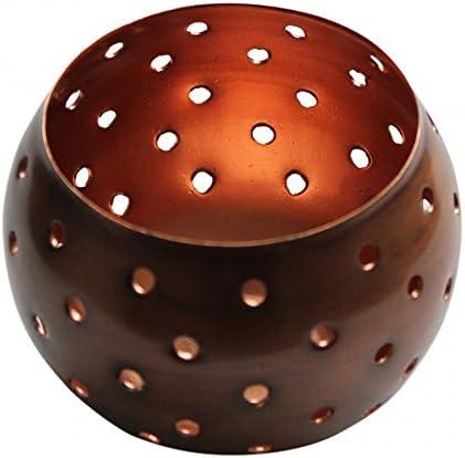 4 x 10cm Kupfer Teelichthalter Wohndeko Poliert Teelicht Geschenk Garten