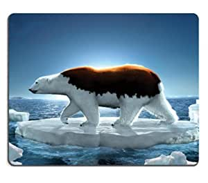 arctic polar Bear Ice wildlife animals Mouse Pads Customized Made to Order Support Ready 9 7/8 Inch (250mm) X 7 7/8 Inch (200mm) X 1/16 Inch (2mm) High Quality Eco Friendly Cloth with Neoprene Rubber Liil Mouse Pad Desktop Mousepad Laptop Mousepads Comfortable Computer Mouse Mat Cute Gaming Mouse pad