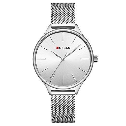 CURREN Reloj de cuarzo de las mujeres, reloj de pulsera de cuarzo analógico ultrafino de