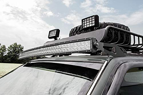 Rough Country - 70567-50-inch Curved LED Light Bar Upper Windshield Mounting Brackets (Jeep Grand Cherokee ZJ) for Jeep: 93-98 Grand Cherokee ZJ 4WD/2WD