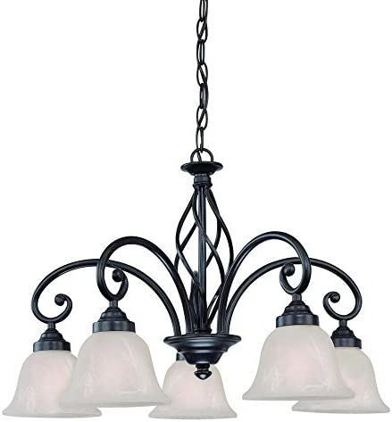 Dolan Designs 185-34 5Lt Olde World Iron Wicker Park 5 Light Chandelier,