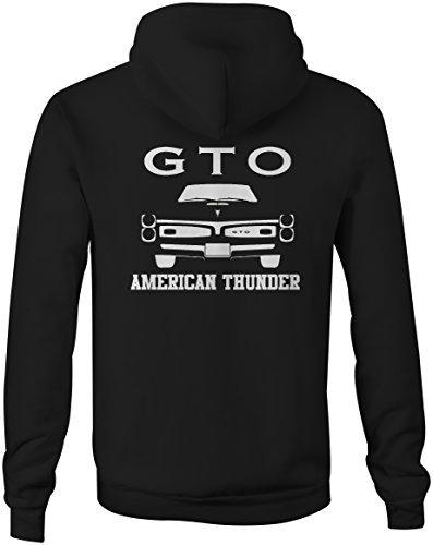 Pontiac GTO Goat American Thunder Grill Muscle Car Full Zip Sweatshirt - Large Pontiac Gto Muscle Cars