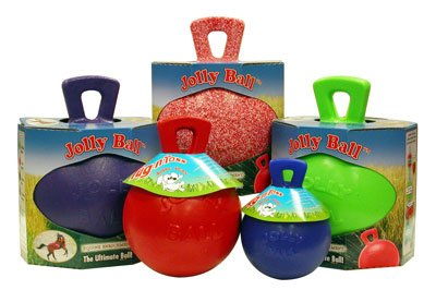 Horsemen's Pride Jolly Ball Horse Stall and Pasture Toy. Great Stress Reducer and Virtually Indestructible! (Apple Scent, Large) by RJ matthews