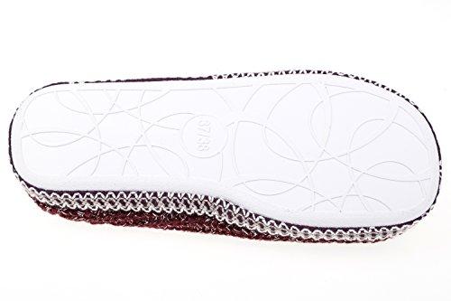 gibra - Zapatillas de estar por casa de tela para mujer 42 burdeos