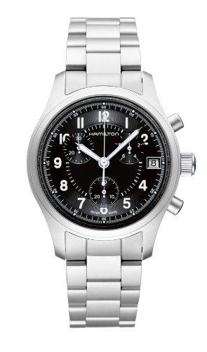 Hamilton H68582133 cronógrafo para hombre esfera negra reloj de pulsera