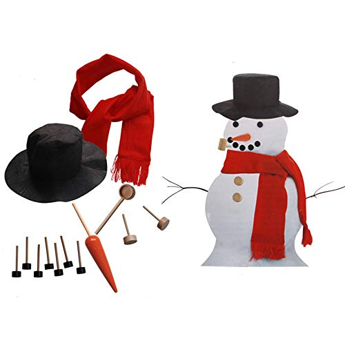Weite Christmas Snowman Dressed Up Kit - New Year Outdoor DIY Home Decoration -