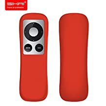 SIKAI® Patent The Apple TV 2nd 3rd generation Remote case Non-Slip-Grip & Secure for Apple TV Remote Ergonomic design Silicone case for Apple TV case remote control case Apple TV 2 3 remote case Apple TV case (Red)