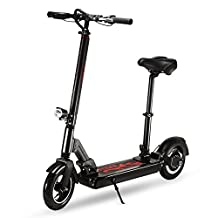 Electric Scooter, Two-wheel Height Adjustable Foldable Board with Headlight and Taillight, 36V 10.4Ah 350W Motor …