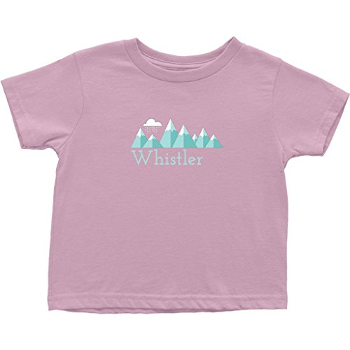 - Tenn Street Goods Whistler BC, Canada Mountain Snow Storm - Unisex Toddler T-Shirt (2T, Pink)