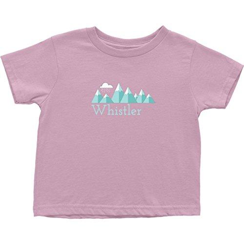 - Tenn Street Goods Whistler BC, Canada Mountain Snow Storm - Unisex Toddler T-Shirt (2T, Pink)