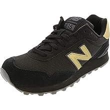 New Balance Women's 515 V1 Sneaker, Black/Phantom/Gold Metallic, 5 W US