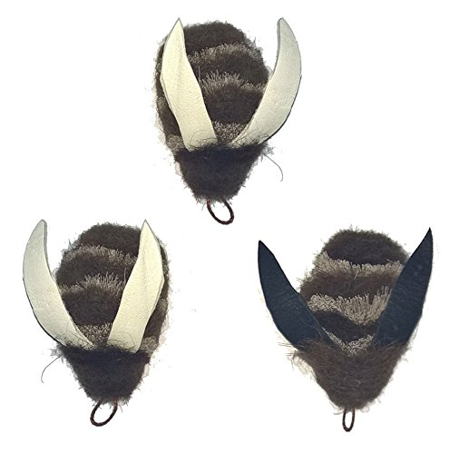 3 Big Sky Cats Buffalo Bee Attachment Pack - Fits Wildcat and popular Bird, Bee, Mouse and Catcher type wands/poles teasers