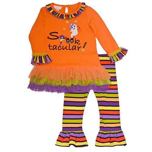 Bonnie Jean Baby Girls Orange Spooktacular 2 Pc Halloween Outfit 12M]()