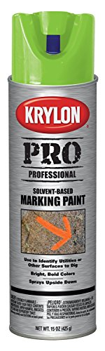 Krylon 7311 Fluorescent Neon Green Solvent Based Marking Paint - 15 oz. Aerosol (Neon Green Automotive Paint)