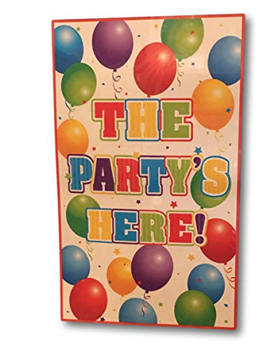 Party Door Cover - The Party's Here or It's A Party - Wall Art Banner 72