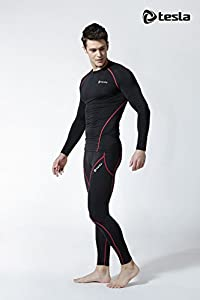 Tesla Men's Long Sleeve T-Shirt Baselayer Cool Dry Compression Top R11 / R19 / MUD11 / MUD71