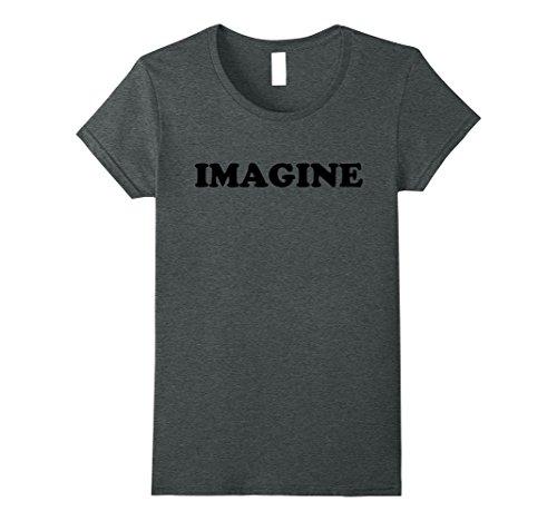 Womens John Lennon - Imagine Bold T-Shirt XL Dark Heather
