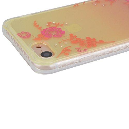 WE LOVE CASE iPhone 7 Coque, Étui Transparente de Protection en Premium Silicone Housse Souple Mince et Clair, Bumper Gel Bling Cas Briller Couverture Paillette Motif Diamante Brilliant Case Pour Appl