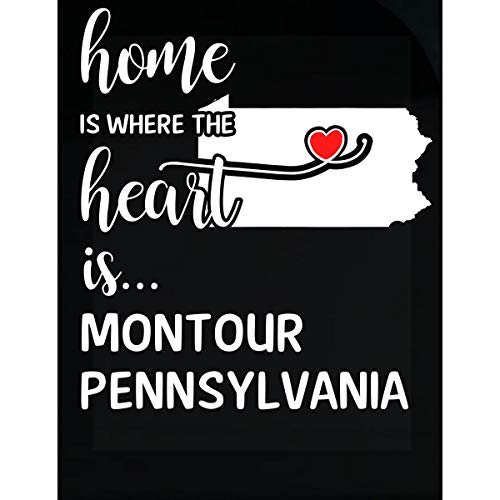 - Inked Creatively Montour County Pennsylvania is Where My Heart is Gift - Sticker