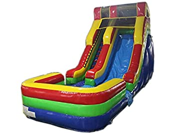 commercial grade 17 foot high water slide bounce house inflatable - Water Slide Bounce House