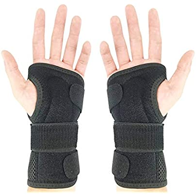 Wrist Fracture Fixation Splint Sprain Pain Protector Breathable Fitness Adjustable Right and Left Hand Wristband for Adult Men and Women Estimated Price £15.99 - £22.05 -