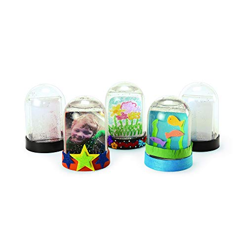 Colorations Create Your Own Snow Globe, Set of 12, DIY Craft, Arts & Crafts, Keepsake, Personalize, Customize, Gift, Party Activity for Kids