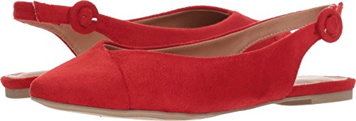 Report Women's Brighton Ballet Flat, Red, 7 M US