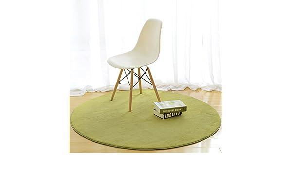 Alfombra de diseño Alfombra Redonda, Mesa de café Dormitorio Salón Cama de la Cama Manta de la Manta Color sólido Manta de la computadora Silla (Color : C, Tamaño : Diameter100cm): Amazon.es: