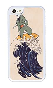 linJUN FENGApple Iphone 5C Case,WENJORS Personalized Surfing the hokusai wave Soft Case Protective Shell Cell Phone Cover For Apple Iphone 5C - TPU White