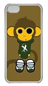 iPhone 5c Case Unique Cool iPhone 5c PC Transparent Cases Cute Monkey Design Your Own iPhone 5c Case