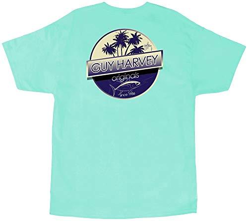 Guy Harvey Mens Tuna Boat T-Shirt X-Large Mint Green