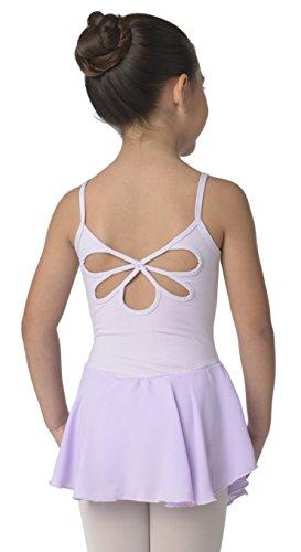 Children's Flower Back Camisole Dance Dress (Lav 6-7) Lavender ()