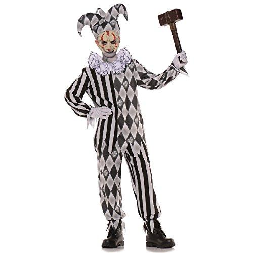Underwraps Big Girl's Underwraps Boy's Evil Harlequin Costume