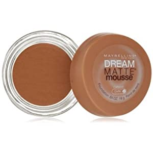 Maybelline Dream Matte Mousse Foundation, Caramel, Dark, 0.64 oz (Pack of 2)