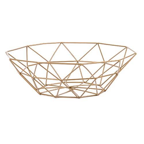 MoGist Fruit Basket Fruit Bowls Storage Stainless Steel Wire Snacks Storage Basket Home Kitchen Art Decoration Fruit Basket, 26 cm - Copper Plated (Golden) by MoGist (Image #6)