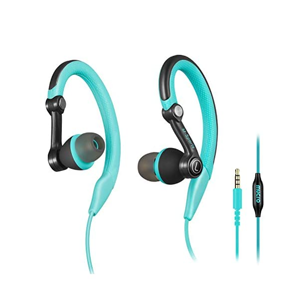 Running Headphones Over Ear in Ear Sport Earbuds Earhook Wired Stereo Workout Ear Buds for Jogging Gym for iPhone iPod Samsung