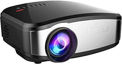 プロジェクタ LCDプロジェクター800×480 1200ルーメン小型LEDプロジェクターホームシアターHDMIのUSB VGA AVテレビProyector ーカー ホームシアター 天井投影 (Color : Black, Size : One size)
