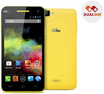 WIKO Rainbow - amarillo - Smartphone dual SIM + Tarjeta de memoria ...