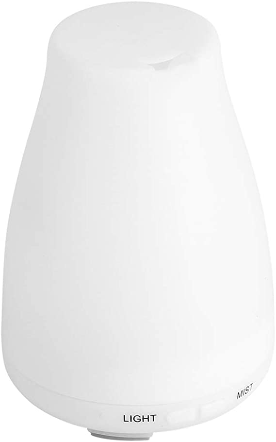LEDナイトライト付きデスクトップエッセンシャルオイルディフューザーアロマディフューザー、オイルディフューザー、ホームオフィス用(U.S. regulations)