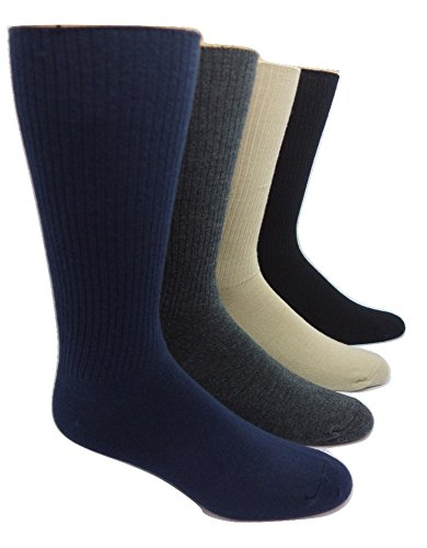 Men's Cashmere and Merino Wool Blend Casual Socks (1 Pair) (Charcoal)