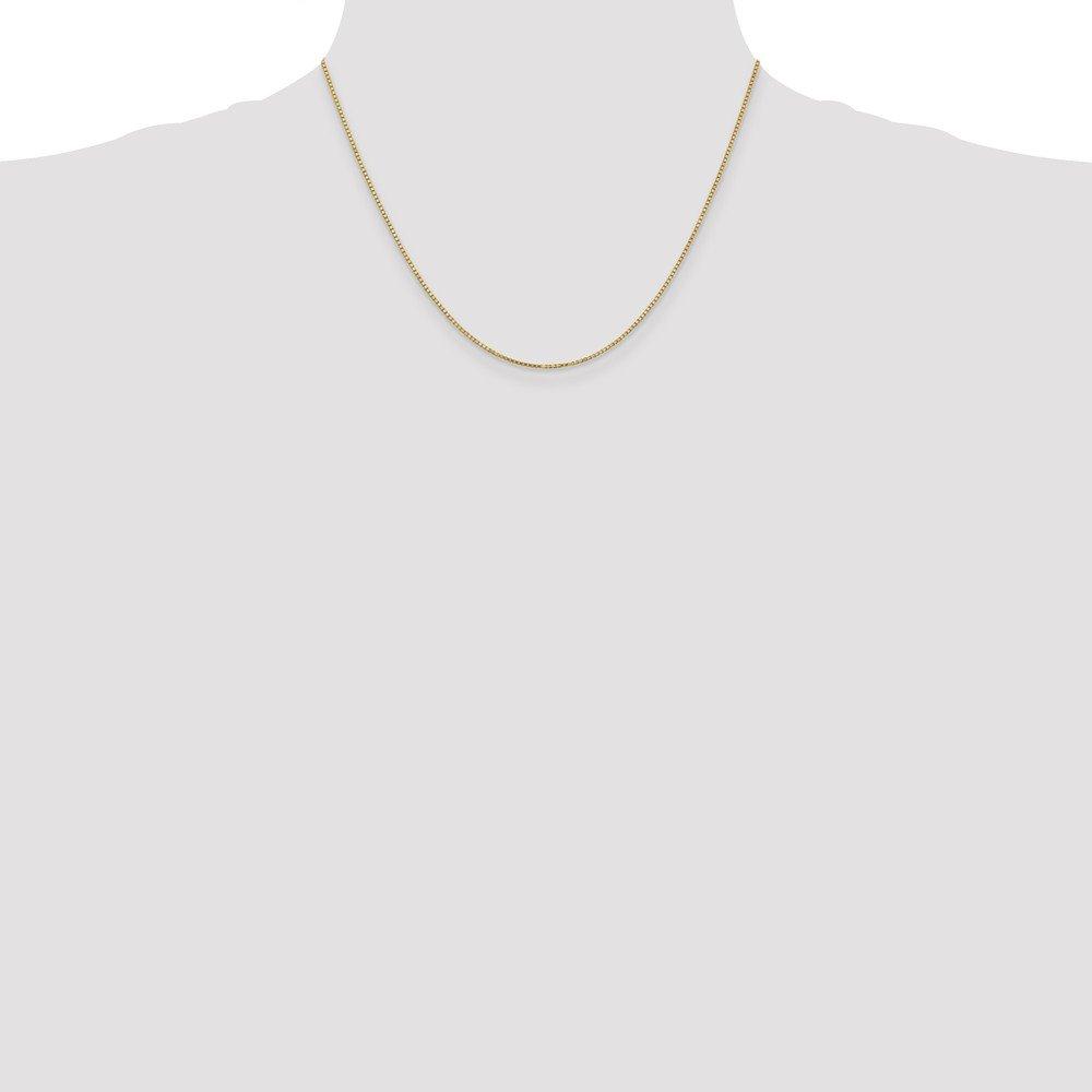 FB Jewels Solid 14K Yellow Gold 1.1mm Box Chain