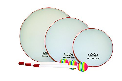 Remo Rhythm Club 6, 8 and 10 inch Hand Drum Set (Age 3+) (Remo Sets Drum)