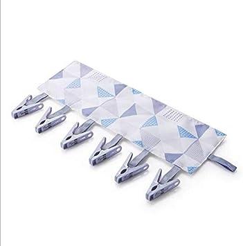con 6 Clip per Asciugamani da Viaggio Livedealing Pieghevole da Bagno Calzini Blue Portatile Appendiabiti Multifunzionale
