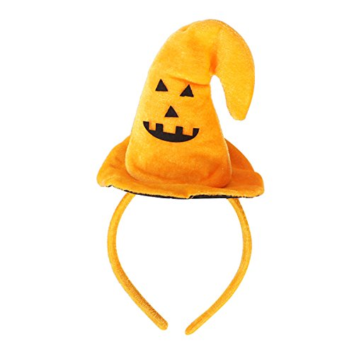 Tinksky Halloween Toys Witch Hat Pumpkin Headband Hair Band Hair Hoop Headpiece Hair Accessories Halloween Costume Party Masquerade Cosplay Props birthday Xmas Thanksgiving Day gift Orange Pumpkin -