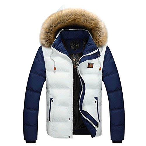 Quilted Cap Short Outdoor Thick Men's White Casual Jacket Winter NEN Cotton Fashion Fashion BOLAWOO Jacket Down Detachable Brands Down Long Warm Sleeve Hooded Coat Jacket BnfqxHzw
