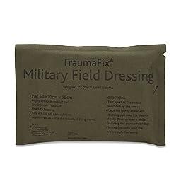 Reliance 964-10 Medical Military Dressing Bandage, Medium, 6.5\
